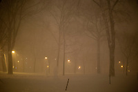 A view of Harvard Yard in Cambridge, Massachusetts, USA, as Winter Storm Nemo approaches on Friday, Feb. 8, 2013.