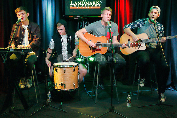 BALA CYNWYD, PA - APRIL 28 :  Vinyl Theater visit Radio 104.5 performance studio in Bala Cynwyd, Pa on April 28, 2015  photo credit Star Shooter / MediaPunch