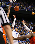 UK guard goes up for a layup in traffic during the UK Men's Basketball vs. Florida Gators game at Rupp Arena. Saturday, February 6, 2016 in Lexington, Ky. UK defeated Florida 80 - 61