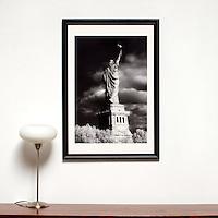 "Davis: Statue of Liberty, Digital Print, Image Dims. 29"" x 20"", Framed Dims. 39"" x 27"" , film art,"