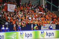 SCHAATSEN: HEERENVEEN: 23-09-2013, IJsstadion Thialf, Opname spotje KPN, Ireen Wüst, ©foto Martin de Jong