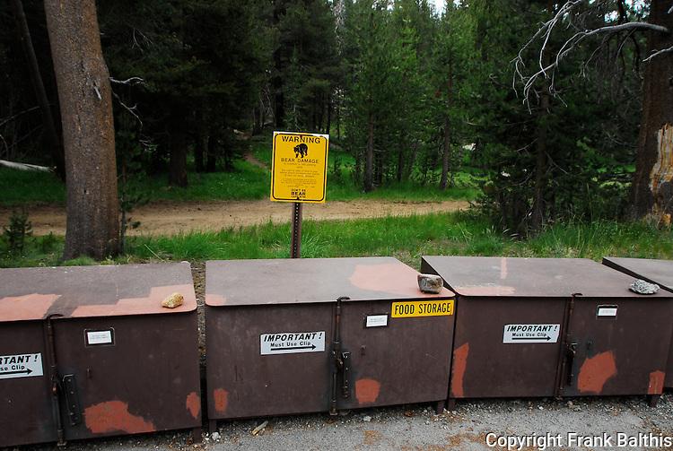food storage, black bear danger, Tuolumne Meadows