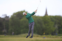 Tiernan McLarnon (Massereene) on the 5th tee during Round 3 of the Lytham Trophy, held at Royal Lytham & St. Anne's, Lytham, Lancashire, England. 05/05/19<br /> <br /> Picture: Thos Caffrey / Golffile<br /> <br /> All photos usage must carry mandatory copyright credit (© Golffile | Thos Caffrey)