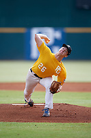 Grant Taylor (26) of Florence High School in Florence, AL during the Perfect Game National Showcase at Hoover Metropolitan Stadium on June 18, 2020 in Hoover, Alabama. (Mike Janes/Four Seam Images)