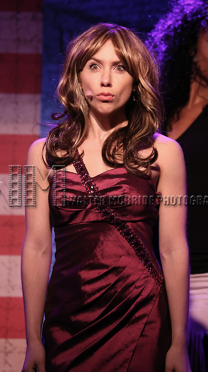 Mia Weinberger performs onstage during the 'ME THE PEOPLE: The Trump America Musical' Press Preview Presentation at The Triad Theater on June 21, 2017 in New York City.