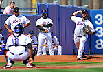 28 February 2011: New York Mets pitcher Mike Pelfrey warms up prior to a Spring Training game against the Washington Nationals at Digital Domain Park in Port St. Lucie, Florida. The Nationals defeated the Mets 9-3 in Grapefruit League action. Mandatory Credit: Ed Wolfstein Photo