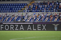 A message for Alex Zanardi reading Forza Alex, Go Alex, is displayed during the Serie A football match between SS Lazio and ACF Fiorentina at stadio Olimpico in Roma ( Italy ), June 27th, 2020. Play resumes behind closed doors following the outbreak of the coronavirus disease. Photo Antonietta Baldassarre / Insidefoto