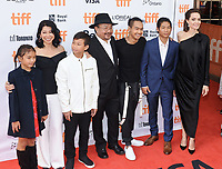 11 September 2017 - Toronto, Ontario Canada - Sareum Srey Moch, Loung Ung, Kimhak Mun, Rithy Panh, Maddox Jolie-Pitt, Pax Jolie-Pitt and Angelina Jolie. 2017 Toronto International Film Festival - &quot;First They Killed My Father&quot; Premiere held at Princess of Wales Theatre. <br /> CAP/ADM/BPC<br /> &copy;BPC/ADM/Capital Pictures