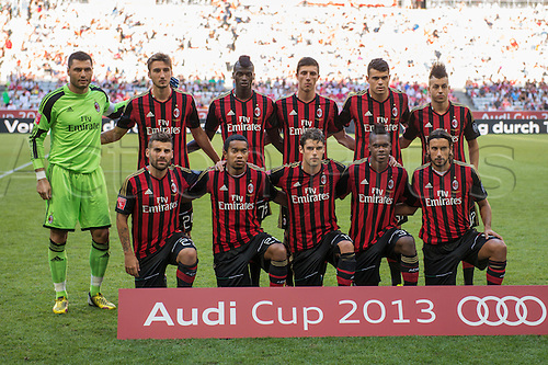 01.08.2013. Munich, Germany.  AC Milan team group line-up (Milan) Audi Cup 2013 match between AC Milan 1-0 Sao Paulo FC at Allianz Arena in Munich, Germany.