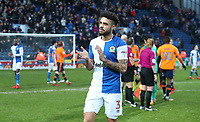 Blackburn Rovers' Derrick Williams at the end of todays match<br /> <br /> Photographer Rachel Holborn/CameraSport<br /> <br /> The EFL Sky Bet League One - Blackburn Rovers v Oldham Athletic - Saturday 10th February 2018 - Ewood Park - Blackburn<br /> <br /> World Copyright &copy; 2018 CameraSport. All rights reserved. 43 Linden Ave. Countesthorpe. Leicester. England. LE8 5PG - Tel: +44 (0) 116 277 4147 - admin@camerasport.com - www.camerasport.com
