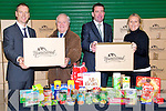 GENEROUSTY: Cliffords Cash & Carry, Tralee who will be helping out St Vincent De Paul with boxes of good over the next coming weeks L-r: Joe Hennessy (GM Cliffords Cash & Carry), Christy Lynch (Area President Vincet de Paul), Peter Clifford ( Propitor-Cliffords Cash 7 Carry) and Claire Tobin (president St Pius Conference).