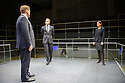 The Young Vic, in a co-production with Supporting Wall, presents BULL in the Maria at the Young Vic. Picture shows: Marc Wootton (Thomas), Max Bennett (tony), Susannah Fielding (Isobel).
