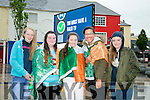 watching the Euro 2016 Match on the Big Screen in the Square Tralee of  Ireland v Belgum on Saturday were l-r  Julia Lehane, Ciara Murphy, Jessica Power, Amy O'Sullivan and Orla Doyle