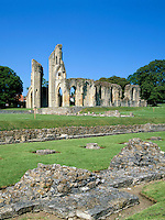 Great Britain, England, Somerset, Glastonbury: 14th century ruins of Glastonbury Abbey | Grossbritannien, England, Somerset, Glastonbury: Ruinen der Glastonbury Abbey