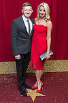 © Licensed to London News Pictures . 16/05/2015 .  The Palace Hotel , Manchester , UK . Sam Aston and ?? . The red carpet at the 2015 British Soap Awards , The Palace Hotel , Oxford Road , Manchester . Photo credit : Joel Goodman/LNP