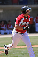 Yonder Alonzo #19 of the Carolina Mudcats at bat during a game against the Chattanooga Lookouts on on May 9, 2010 in Zebulon, NC.