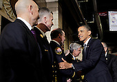 United States President Barack Obama visits members of the FDNY at Engine 54 Fire House days after Osama Bin Laden was killed by U.S. Navy Seals almost 10 years after the terrorist attacks on the World Trade Center in New York on May 5, 2011.   .Credit: John Angelillo / Pool via CNP
