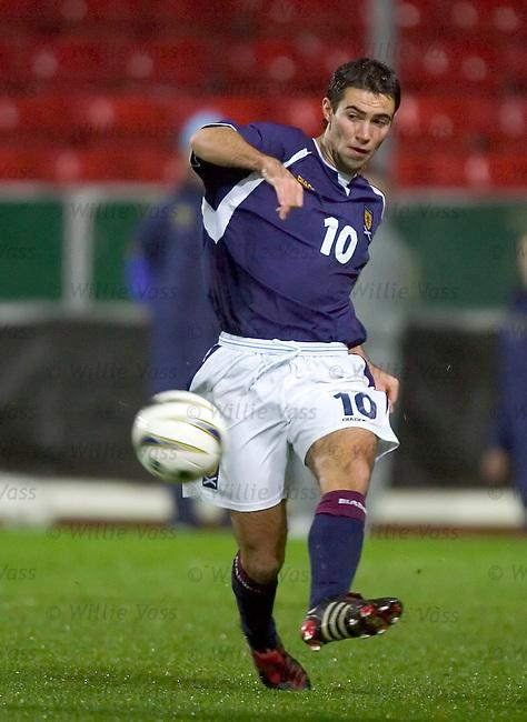 Simon Lappin, Scotland u21.stock season 2004-2005.pic willie vass