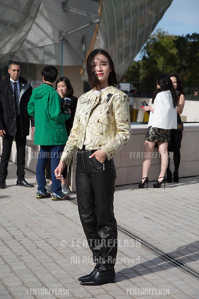 Tina Leung attend Louis Vuitton Show Front Row - Paris Fashion Week  2016.<br /> October 7, 2015 Paris, France<br /> Picture: Kristina Afanasyeva / Featureflash