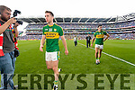 Marc Ó Sé and Aidan O'Mahony Kerry after Kerry were defeated by Dublin in the All Ireland Senior Football Semi Final at Croke Park on Sunday.