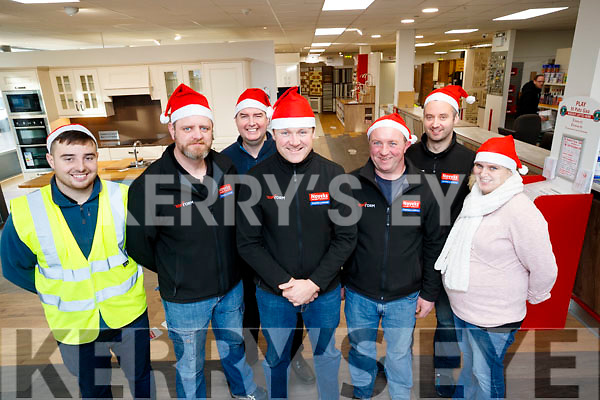 Noyeks Newmans, staff members pictured on Monday last, l-r: Kyle Fitzgibbon, Conor O'Hara, Oliver Murphy, Joe Costelloe, Mike Enright, Peter O'Regan and Deirdre Lynch.