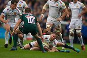 30th September 2017, Welford Road, Leicester, England; Aviva Premiership rugby, Leicester Tigers versus Exeter Chiefs;  Will Chudley in action for Exeter
