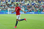 June 1th 2017, Ullevaal Stadion, Oslo, Norway; International Football Friendly 2018 football, Norway versus Sweden; Mohamed Elyounoussi of Norway celebrates after scoring a goal