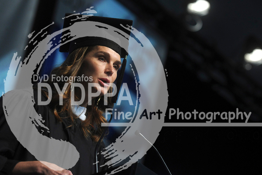 Honorary Degree Recipient Brooke Shields attends the Fashion Institute of Technology Commencement 2015 at the Jacob K. Javits Convention Center on May 21, 2015 in New York City