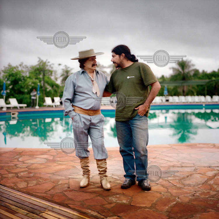 Ramon Ayala, a singer from Missiones and singer and environmentalist Joselo Schuap.