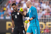 Action photo during the match USA vs Paraguay at Lincoln Financial Field, Copa America Centenario 2016. ---Foto  de accion durante el partido USA vs Paraguay, En el Lincoln Financial Field, Partido Correspondiante al Grupo - D -  de la Copa America Centenario USA 2016, en la foto: Clint Dempsey, Brad Guzan