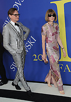 BROOKLYN, NY - JUNE 4: Hanmish Bowles and Anna Wintour at the 2018 CFDA Fashion Awards at the Brooklyn Museum in New York City on June 4, 2018. <br /> CAP/MPI/JP<br /> &copy;JP/MPI/Capital Pictures