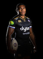 Semesa Rokoduguni poses for a portrait in the 2015/16 European kit during a Bath Rugby photocall on September 8, 2015 at Farleigh House in Bath, England. Photo by: Patrick Khachfe / Onside Images