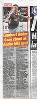 Column image reporting on Burnley FC v Blackburn Rovers FC in the 'Daily Star Sunday', 06/03/16. Full set of images at http://bit.ly/21dYc3l