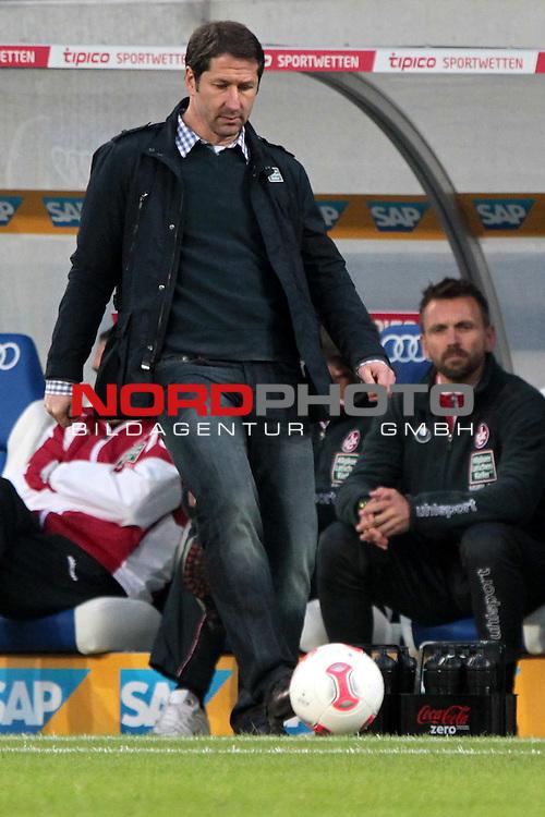 23.05.13, Sinsheim, WIRSOL Rhein-Neckar-Arena,  GER, 1.FBL, Relegation, TSG 1899 Hoffenheim vs 1.FC Kaiserslautern <br />  im Bild  Trainer Franco Foda (Kaiserslautern)<br /> <br />  // during the match between TSG 1899 Hoffenheim and 1.FC Kaiserslautern on 2013/05/23    <br />   Foto &copy; nph / Hessland