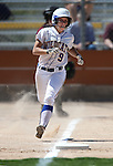 Western Nevada Wildcats' Heather Septon runs down the line after hitting a single against North Idaho College at Edmonds Sports Complex, in Carson City, Nev., on Friday, April 18, 2014.<br /> Photo by Cathleen Allison/Nevada Photo Source