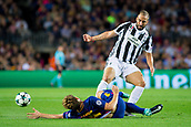 12th September 2017, Camp Nou, Barcelona, Spain; UEFA Champions League Group stage, FC Barcelona versus Juventus; Ivan Rakitic of FC Barcelona fouled by Gonzalo Higuaí­n of Juventus