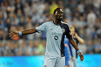 C.J Sapong (17) forward Sporting KC..Sporting Kansas City defeated Montreal Impact 2-0 at Sporting Park, Kansas City, Kansas.