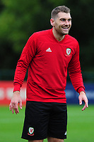 Sam Vokes of Wales during the Wales Training Session at The Vale Resort in Cardiff, Wales, UK. Monday 07 October 2019