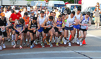 Runners start the race at the 2010 Syttende Mai between Madison and Stoughton, Wisconsin on Saturday, 5/15/10