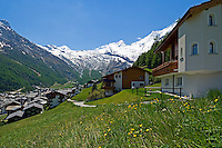 Switzerland, Canton Valais, Saas-Fee at Saas valley
