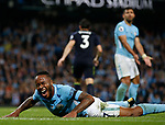 Raheem Sterling of Manchester City shouts out in frustration during the Premier League match at the Eithad Stadium, Manchester. Picture date 21st August 2017. Picture credit should read: Simon Bellis/Sportimage