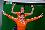 AMSTELVEEN- HOCKEY - Elsie Nix en Caia van Remmerswaal.  lid van de trainingsgroep van het Nederlands dames hockeyteam. COPYRIGHT KOEN SUYK