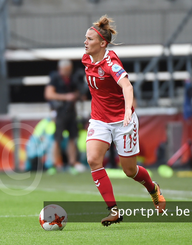 20170803 - BREDA , NETHERLANDS : Danish Katrine Veje pictured during the female soccer game between Denmark and Austria  , the semi final at the Women's Euro 2017 , European Championship in The Netherlands 2017 , Thursday 3th of August 2017 at Stadion Rat Verlegh in Breda , The Netherlands PHOTO SPORTPIX.BE | DIRK VUYLSTEKE