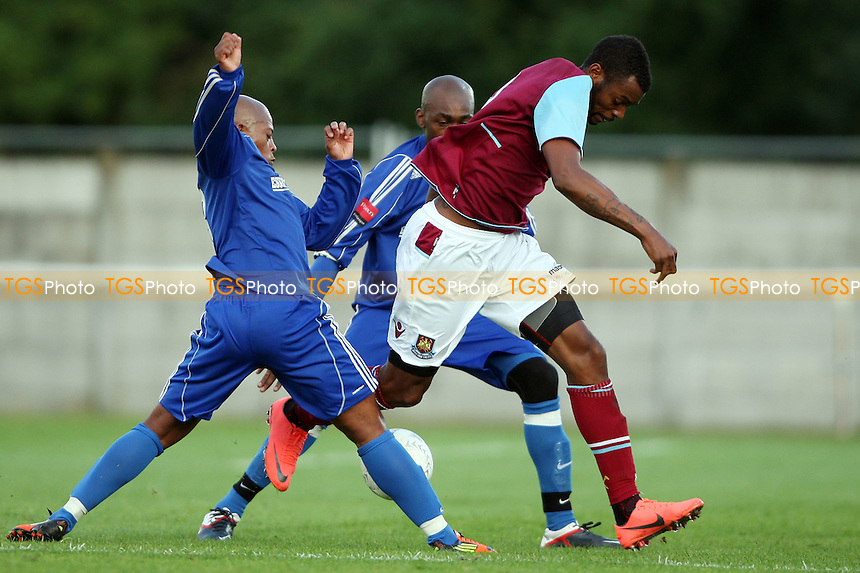Frederic Piquionne of West Ham in aciton - Grays Athletic vs West Ham United XI, Pre-season Friendly at Rush Green Stadium, Rush Green - 20/07/12 - MANDATORY CREDIT: Rob Newell/TGSPHOTO - Self billing applies where appropriate - 0845 094 6026 - contact@tgsphoto.co.uk - NO UNPAID USE..