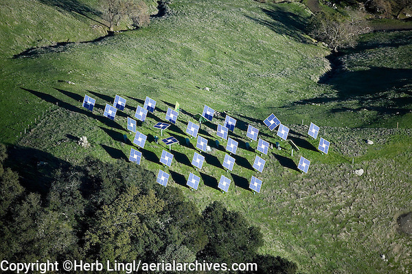 solar panels Mayacamas Mountains Napa Valley California