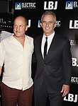 LOS ANGELES, CA - OCTOBER 24: Actor Woody Harrelson (L) and Robert F. Kennedy Jr. arrive at the premiere of Electric Entertainment's 'LBJ' at the Arclight Theatre on October 24, 2017 in Los Angeles, California.