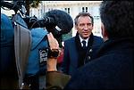 François Bayrou / Président du Mouvement Démocrate MODEM interviewé par France3 à Pau / 64 Pyrénées Atlantiques / Rég. Aquitaine / François Bayrou former president of the MODEM french party / France