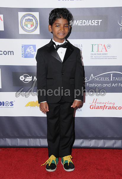 19 February 2017 - Hollywood, California - Sunny Pawar.  12th Annual Los Angeles - Italia Film Festival held at TCL Chinese 6 Theater. Photo Credit: Birdie Thompson/AdMedia