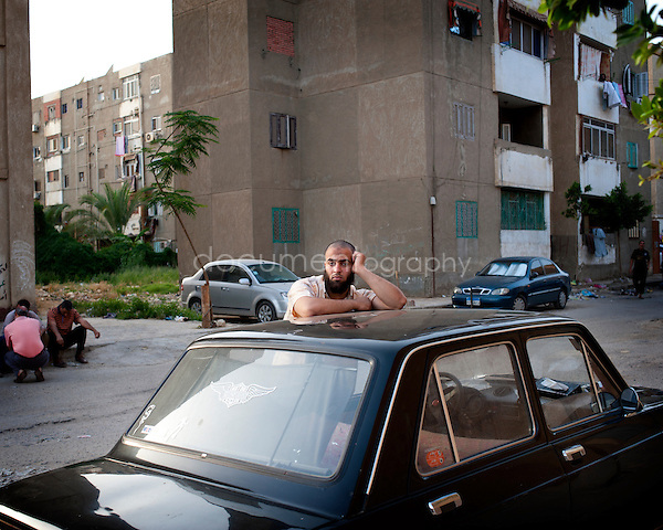 EGYPT - ON THE ROAD TO THE POLLING STATIONS.copyright : Magali Corouge / Documentography.22th of may 2012, Egypt. ..A polling station in Suez, Egypt..