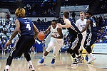 March 1, 2016 - Colorado Springs, Colorado, U.S. -   Air Force forward, Dezmond James #24, drives the lane during an NCAA basketball game between the Utah State University Aggies and the Air Force Academy Falcons at Clune Arena, United States Air Force Academy, Colorado Springs, Colorado.  Utah State defeats Air Force 78-65.